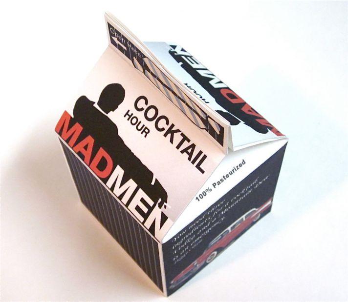 retro wedding favors box mad men inspired