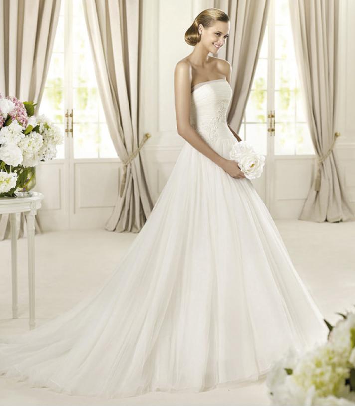 2013 wedding dress Pronovias Glamour collection bridal gowns Duarte