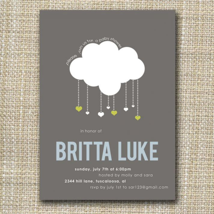Raining Hearts Wedding Invitations
