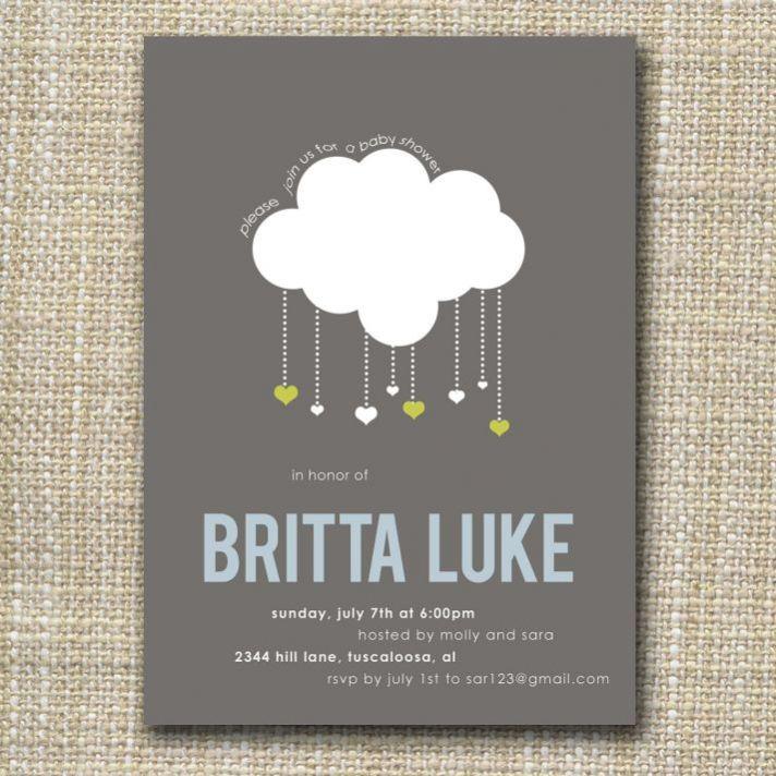 Raining Hearts Wedding Invitations