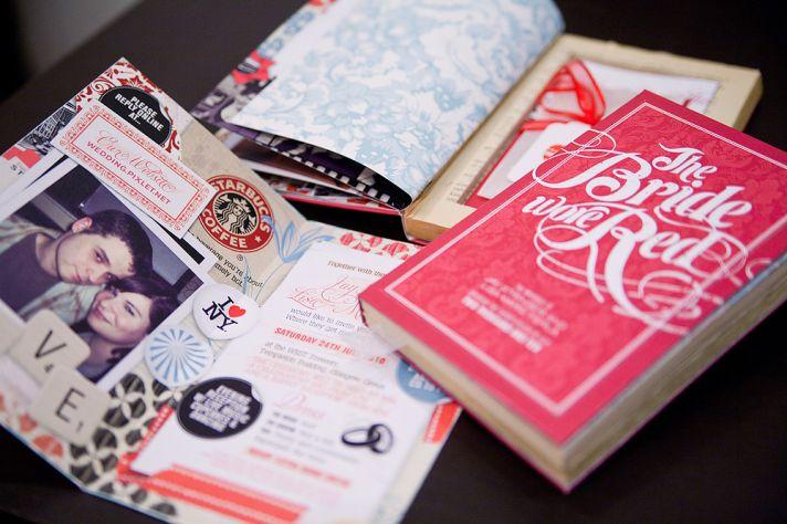 red romantic wedding invitations