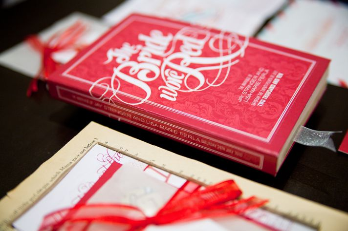 red romantic wedding invitations