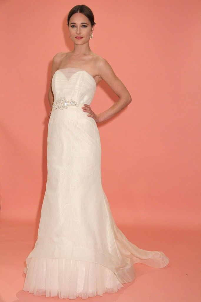 badgley mischka wedding dress spring 2013 bridal gowns illusion neck detail