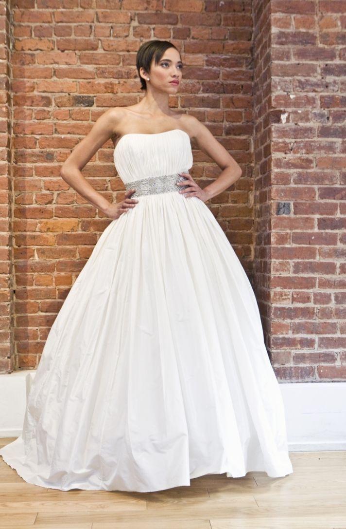 eco friendly wedding dress The Cotton Bride strapless princess bridal gown