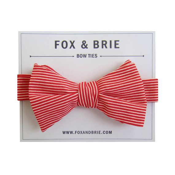 grooms style wedding fashion bow ties red white stripes