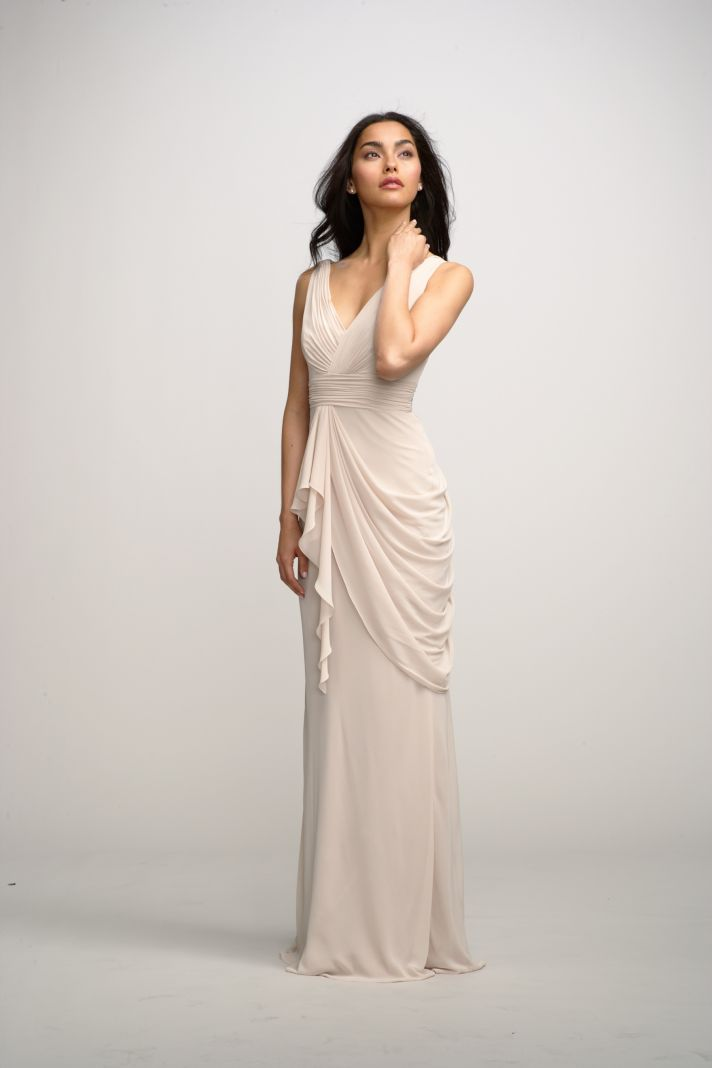 2012 bridesmaids dresses by watters bridesmaid gown cream long with draping