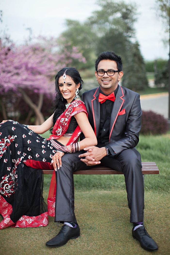 cultural real wedding Indian weddings Chicago IL bride groom portrait
