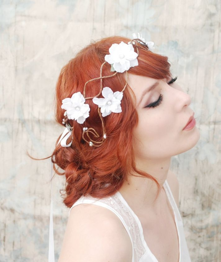 romantic wedding hair accessories bohemian bride