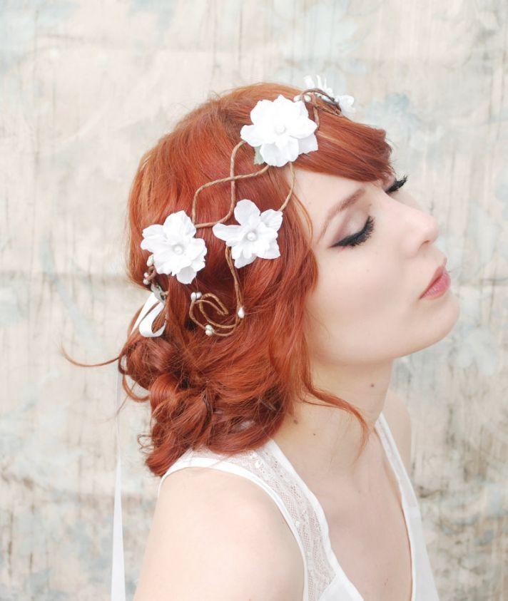 romantic wedding hair accessories bohemian bride