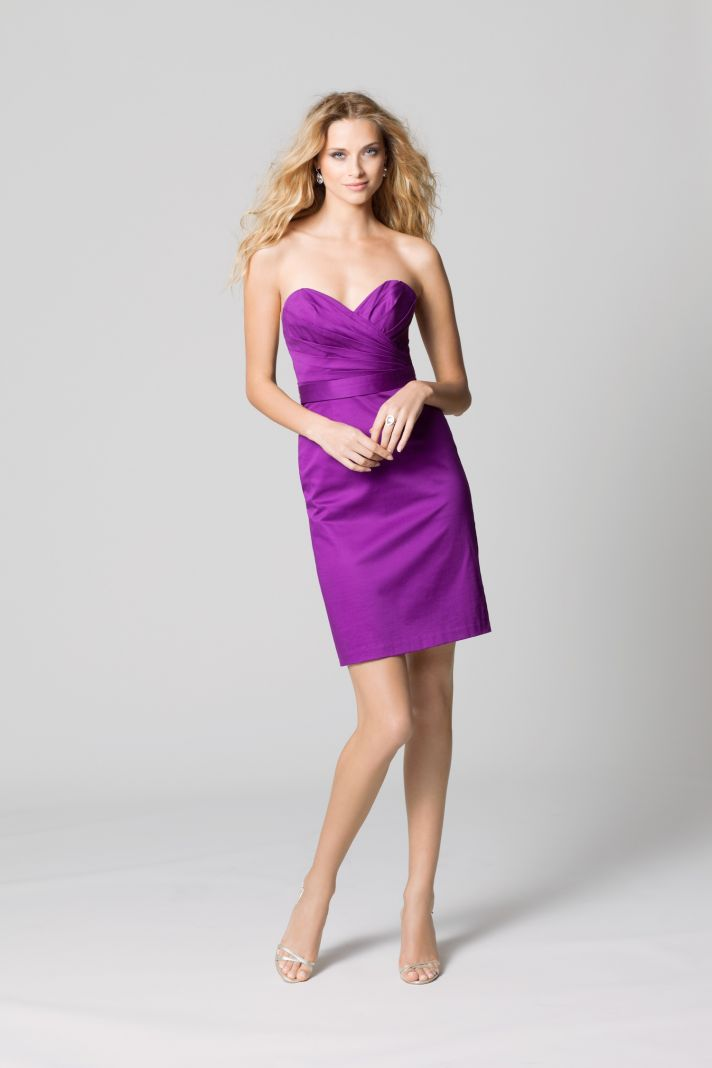 affordable bridesmaids dresses Fall 2012 WTOO by Watters bridal party fuschia