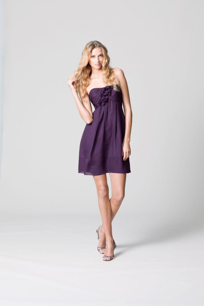 affordable bridesmaids dresses Fall 2012 WTOO by Watters bridal party deep wine babydoll