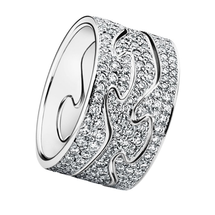 unique wedding bands for brides georg jensen fushion ring customize online diamond encrusted - Online Wedding Rings