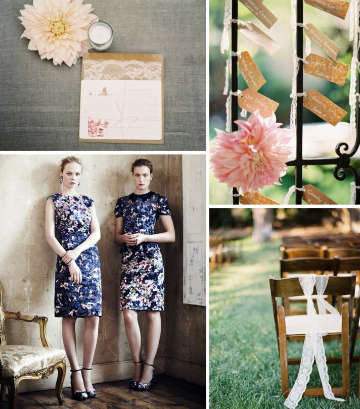 floral and lace wedding inspiration romantic outdoor weddings