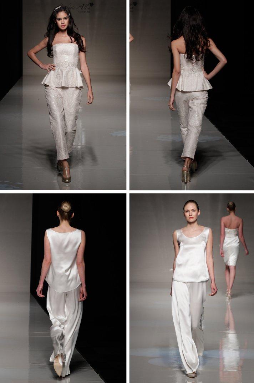 2013 wedding dress trends vintage inspired bride bridal pants