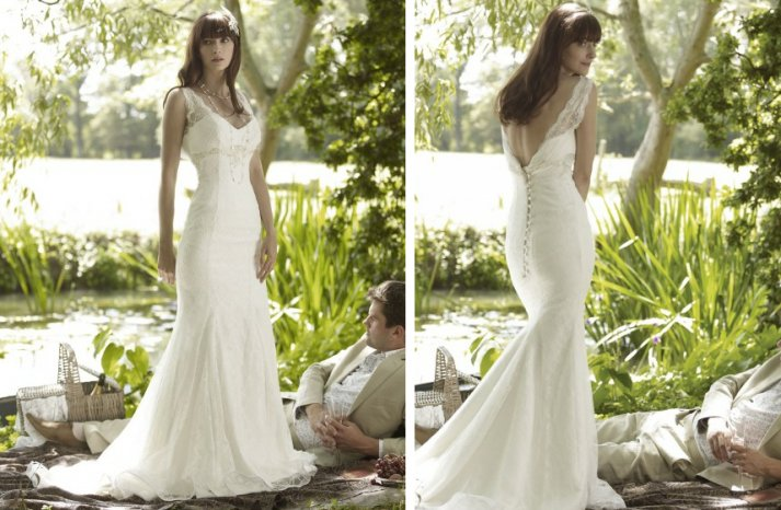 romantic wedding dresses by stephanie allin 2012 bridal gown lace mermaid v back