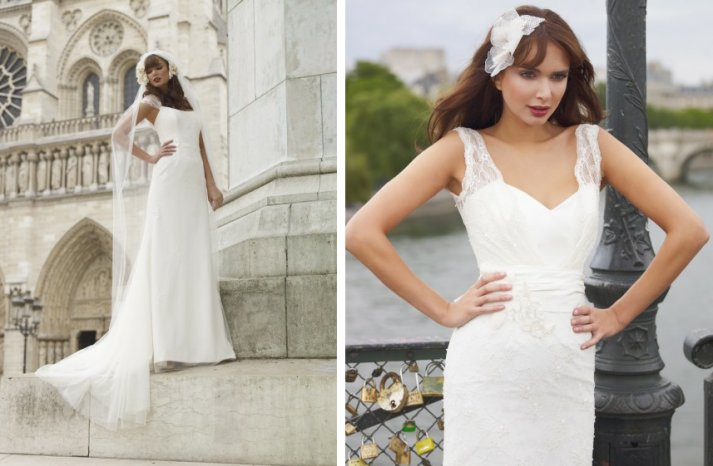 vintage inspired wedding dress stephanie allin lace illusion traditional bridal gowns