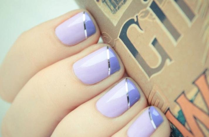 unique wedding nail art bridal beauty details lilac silver pastel purple