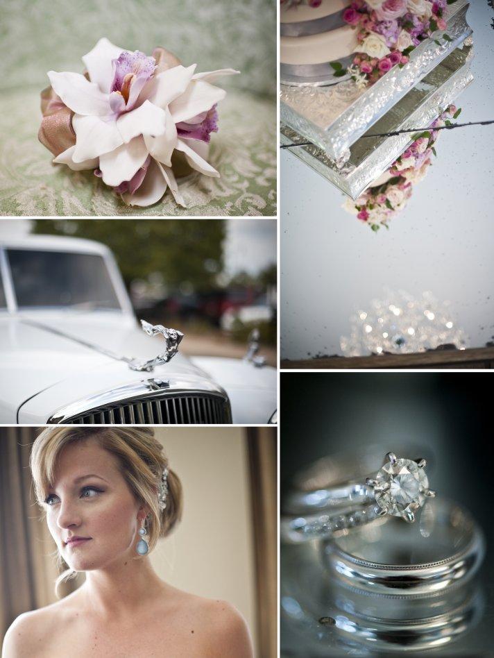 elegant fall wedding in oklahoma vintage wedding car