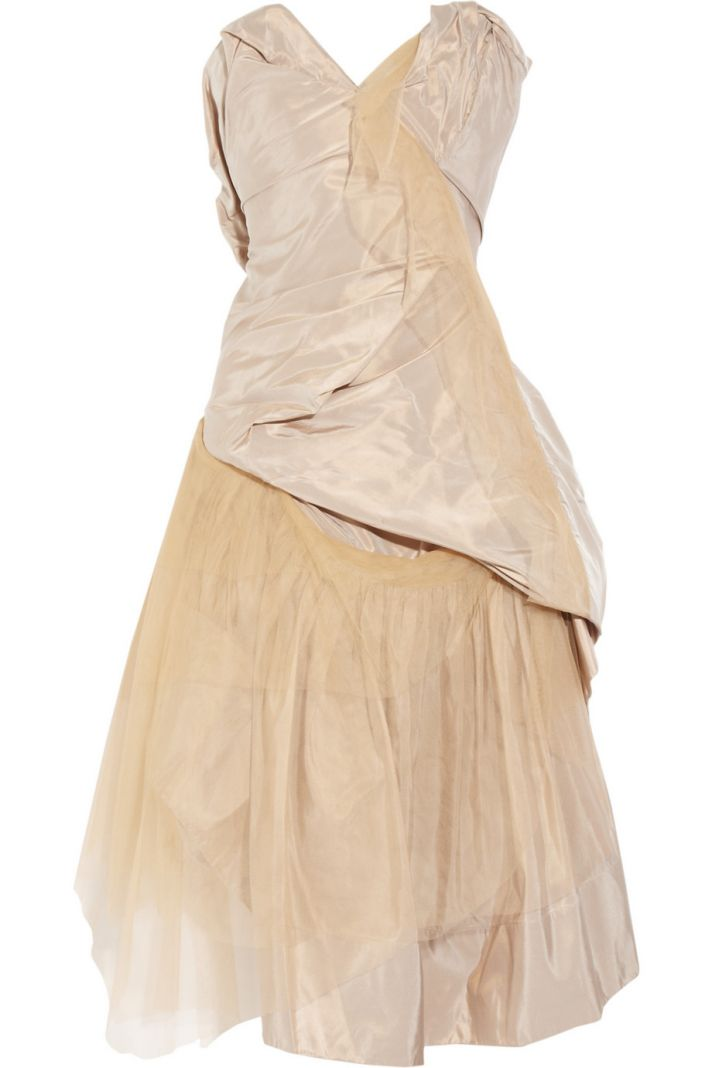 bronze silk taffeta wedding dress or LWD by Vivienne Westwood
