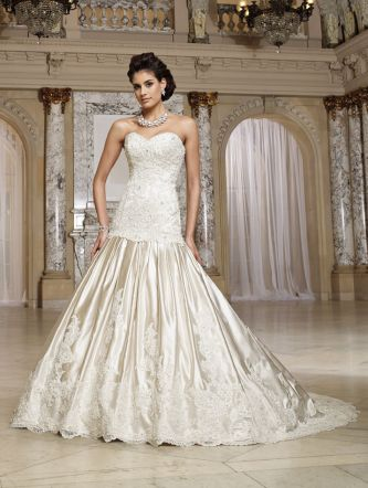 David tutera for mon cheri wedding dress style mary for David tutera wedding jewelry collection