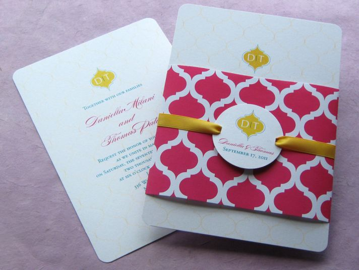 Cultural Weddings Red Gold Wedding Invitations Pictures Gallery