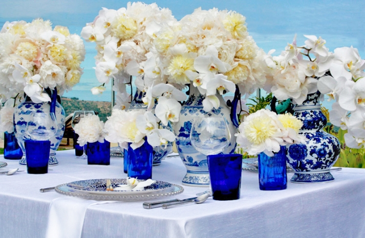 beach wedding decor orchid centerpieces