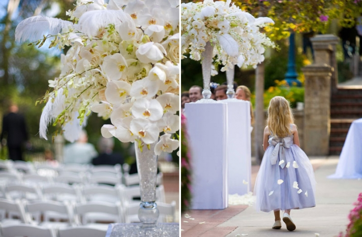 elegant ivory wedding flowers vintage wedding centerpiece with feathers
