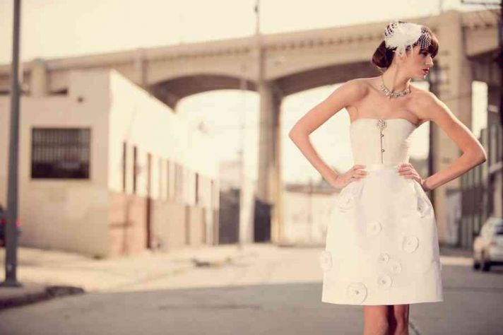 structured LWD for wedding reception