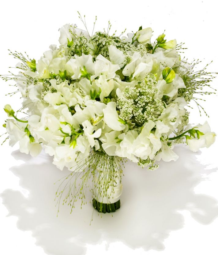 beach wedding flowers white green ivory