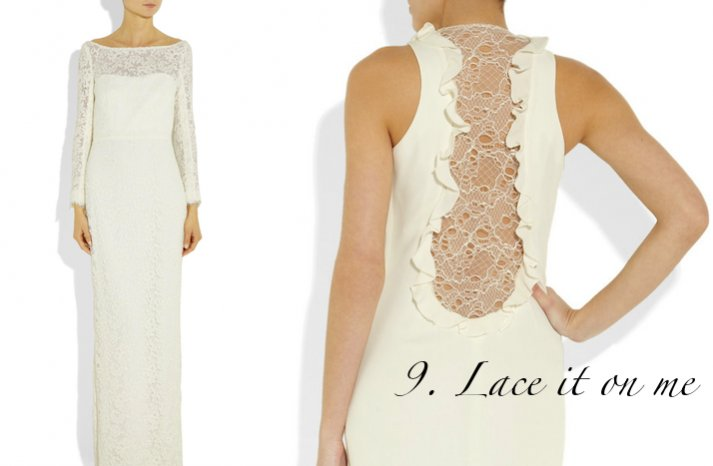 2012 summer wedding trends lace bridal gowns