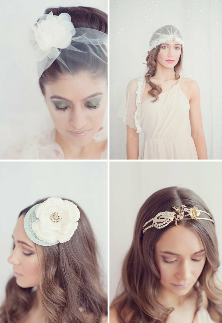 romantic bridal veils tulle from Etsy for vintage brides