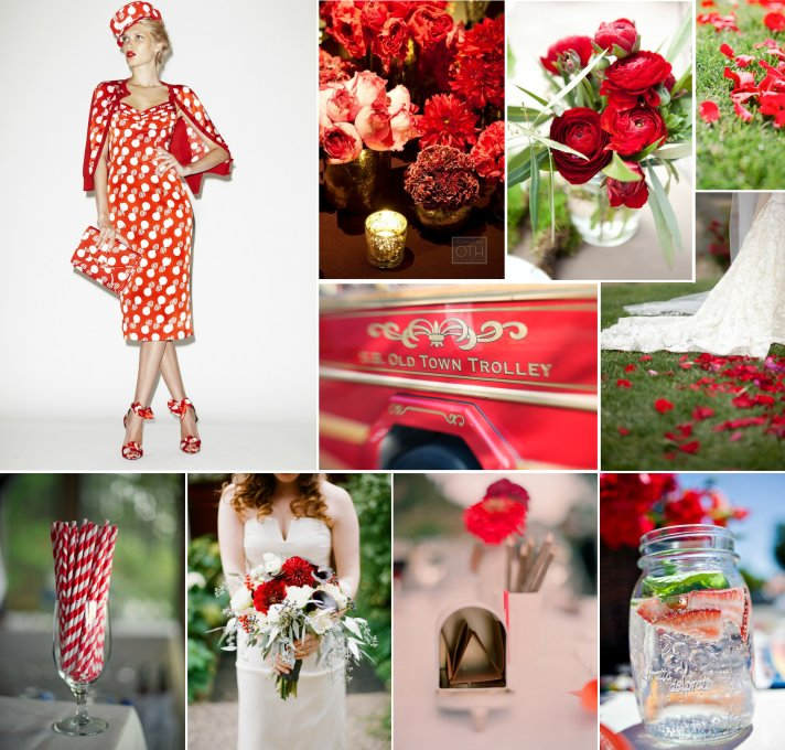 red and white wedding colors inspired by l wen scott 2