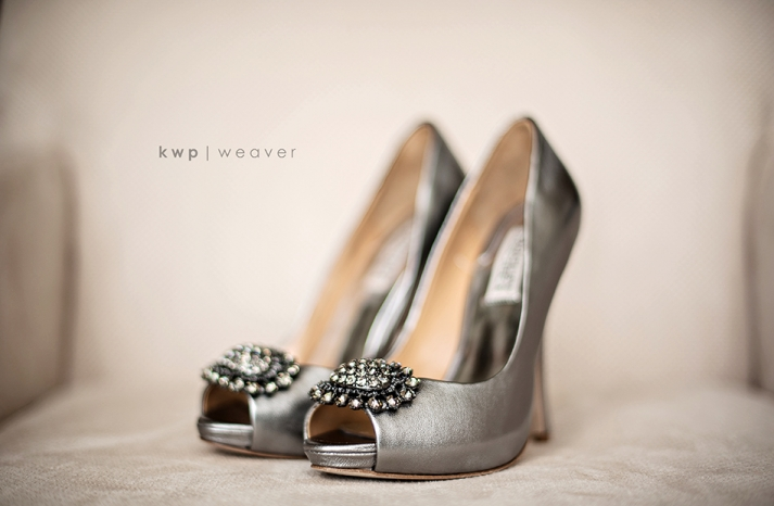 wedding photography detail shots silver wedding shoes