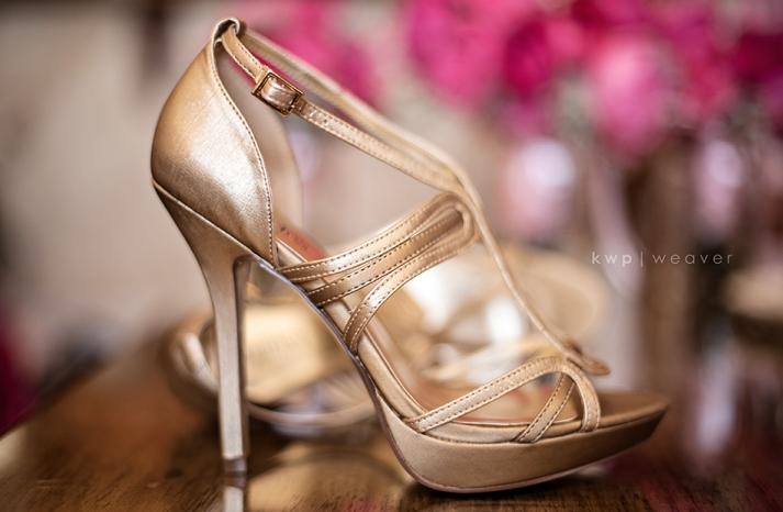 elegant southern wedding summer 2012 gold wedding shoes