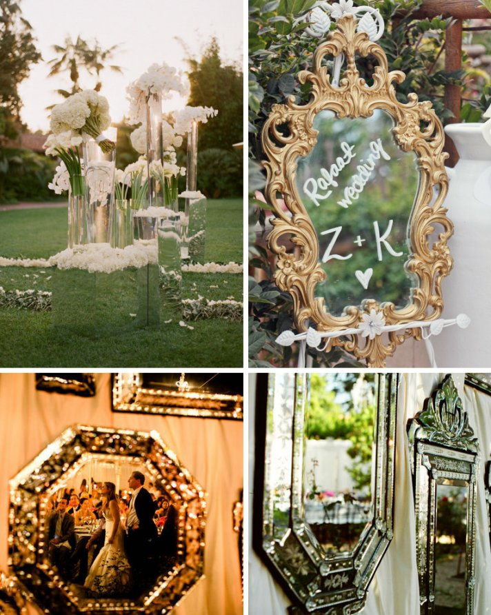 Wall Decoration For Wedding Ideas : Mirror on the wall make my wedding sparkliest of all