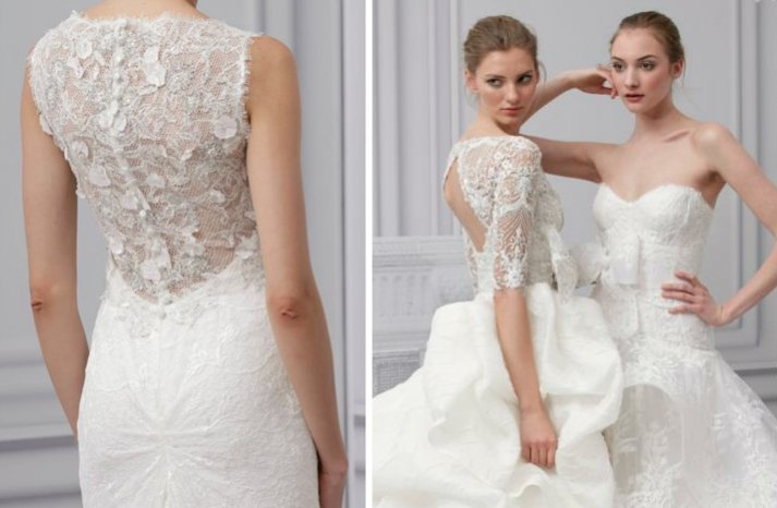 monique lhuillier 2013 wedding dress open back bridal gowns 3