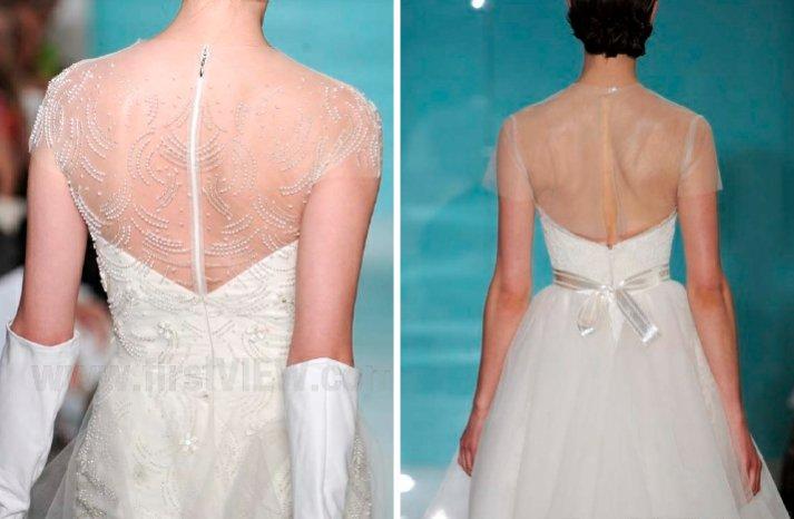 reem acra 2013 wedding dress statement back bridal gowns 3