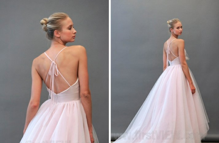 Blush 2013 wedding dress statement back bridal gowns 1