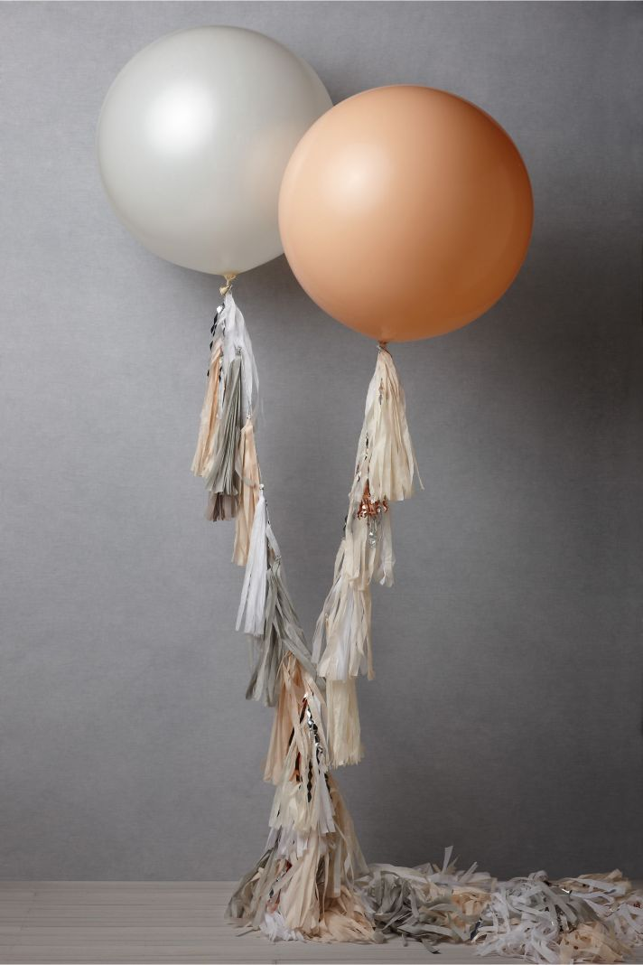 BHLDN bridal accessories for vintage weddings wedding reception decor balloons