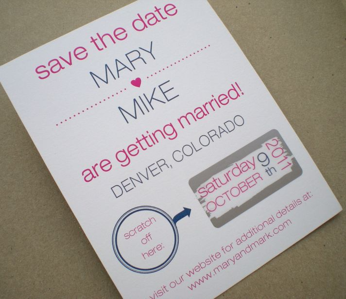 wedding save the date scratch off modern weddings