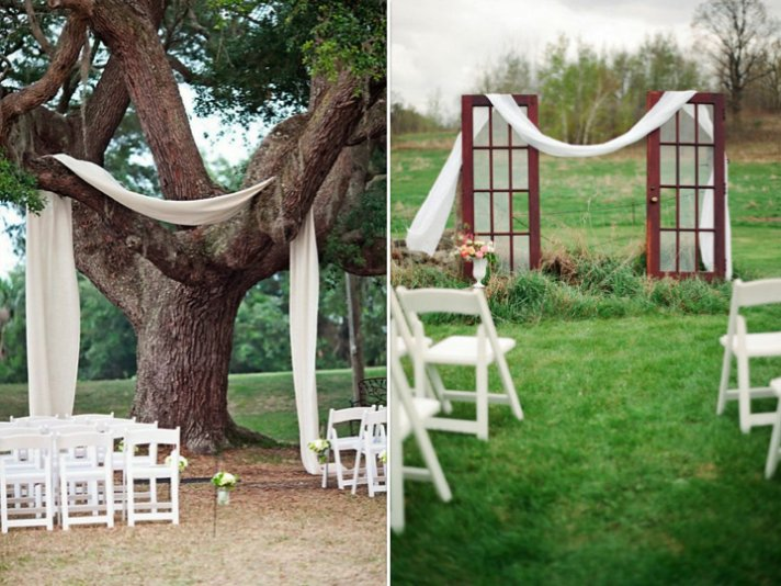 Simple Outdoor Ceremony Decorations: Outdoor Wedding Ceremony Ideas