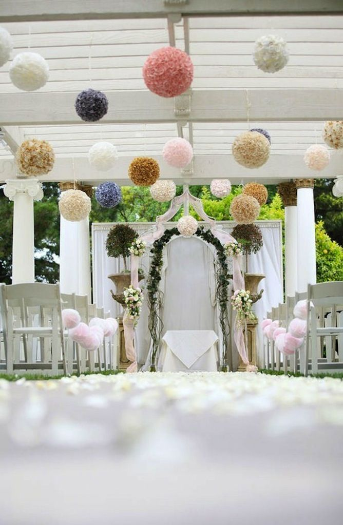 Outdoor wedding ceremony decorations romantic decoration for Outdoor wedding reception ideas