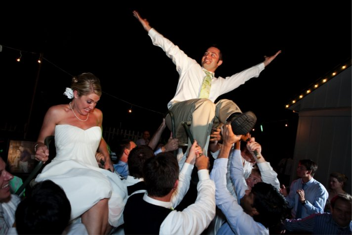 unique wedding ideas for interfaith wedding Jewish touches hora