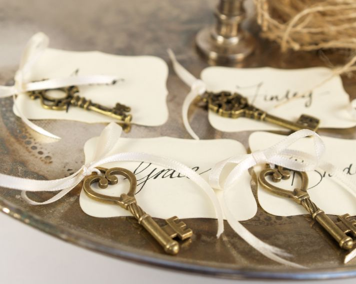 handmade wedding escort cards Etsy wedding stationery elegant keys