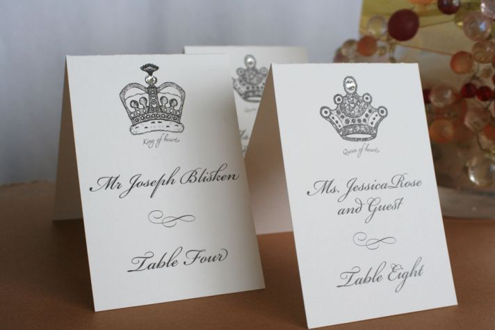 handmade wedding escort cards Etsy wedding stationery fit for a royal wedding
