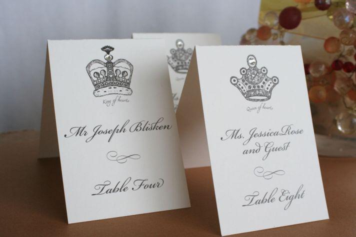 handmade wedding escort cards Etsy wedding stationery fit for a royal wedding