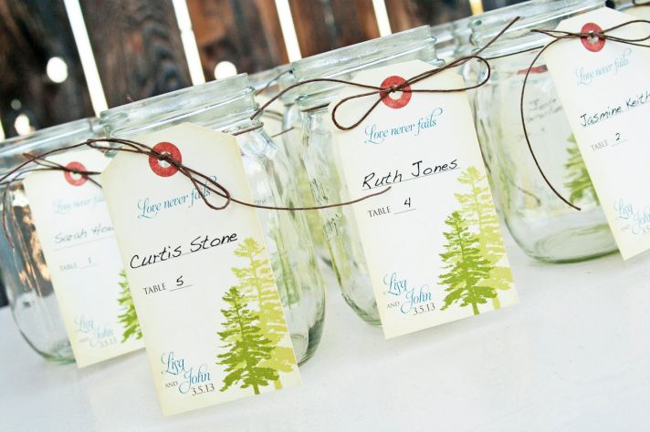 handmade wedding escort cards Etsy wedding stationery vintage outdoorsy