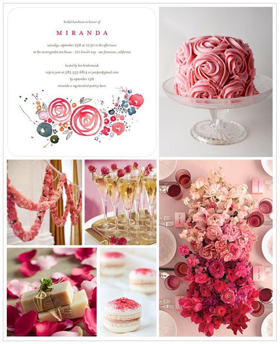 bridal shower wedding invitations romantic roses