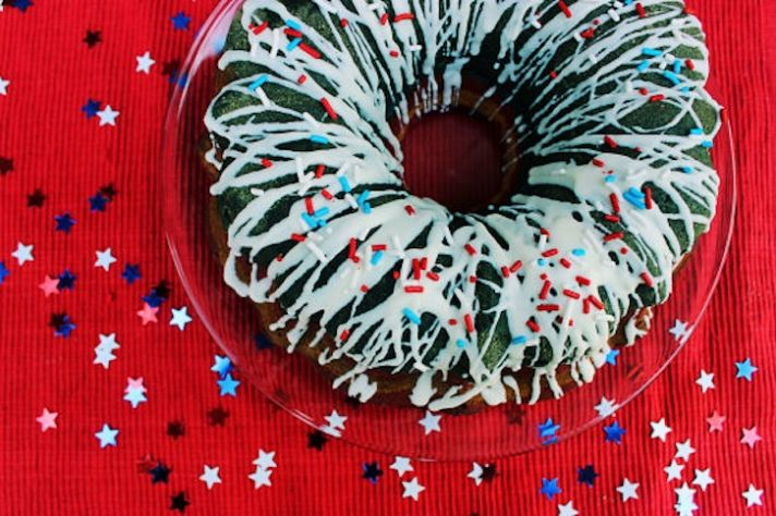 red white blue pound cake wedding food
