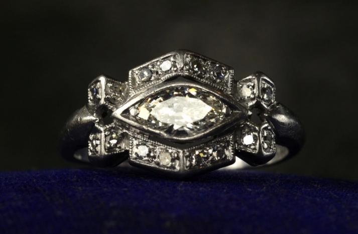 antique engagement rings for vintage brides 1920s art deco marquise